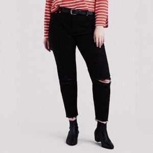 Levi high rise wedgie jeans with button fly